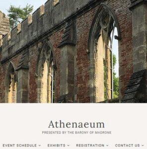Screenshot of top center of Athenaeum website